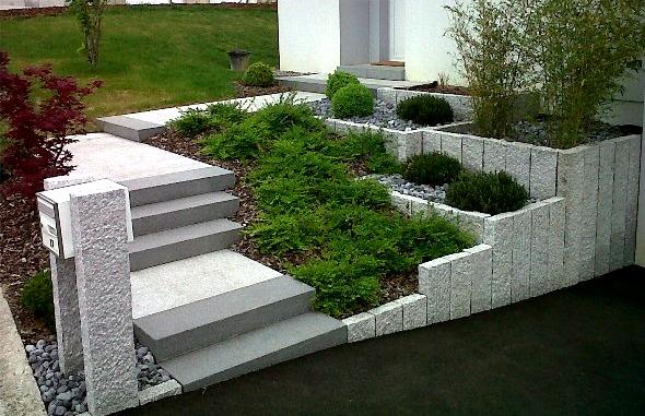 Ma onnerie paysag re plantation jfb horti services for Amenagement entree avec escalier